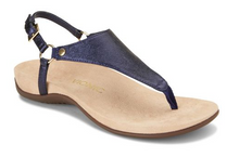 Load image into Gallery viewer, Vionic Rest Kirra Metallic Sandal Navy