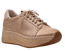 Load image into Gallery viewer, OTBT Meridian Wedge Sneaker New Gold
