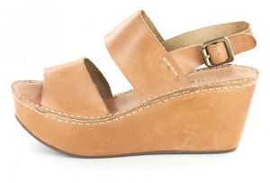 Chocolat Blu Wymen Wedge Camel Leather
