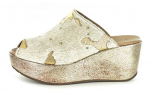 Chocolat Blu Yiona Wedge Gold Calf Hair