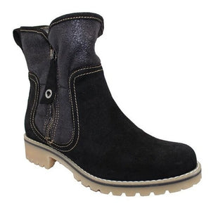 Eric Michael Denver Waterproof Ankle Bootie Black