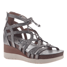 Load image into Gallery viewer, OTBT Escapade Wedge Gladiator Sandal Silver