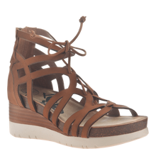 Load image into Gallery viewer, OTBT Escapade Wedge Gladiator Sandal Tan