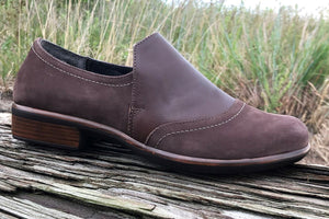 NAOT Angin Slip-On Toffee Coffee Leather