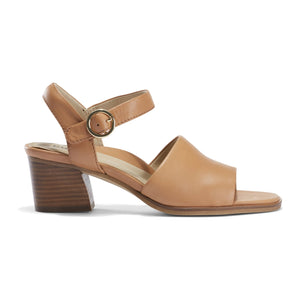 EARTH Murano Haze Heeled Sandal Tan Leather