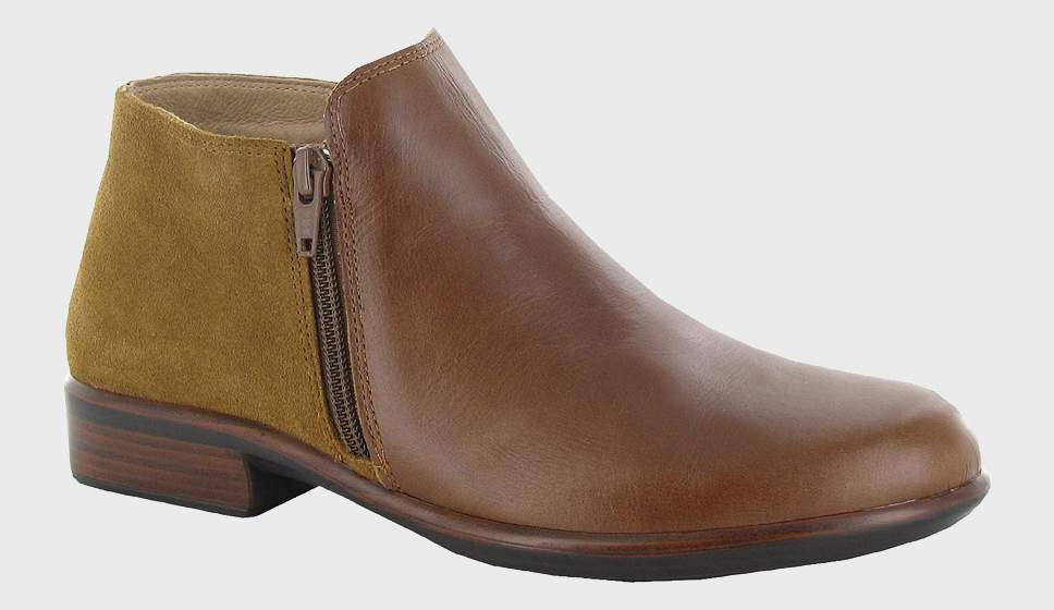 NAOT Helm Ankle Boot Maple Brown Leather
