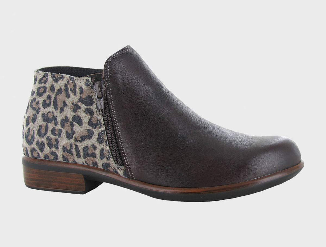NAOT Helm Ankle Boot Soft Brown Leather Cheetah
