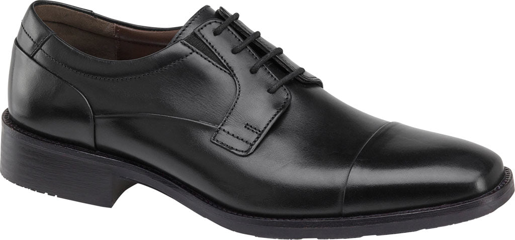 Johnston and Murphy Lancaster Cap Toe Black Leather