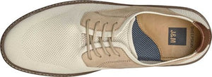 Johnston and Murphy McGuffey Plain Toe Beige Knit/Nubuck
