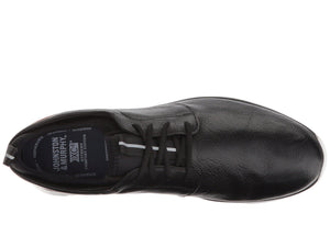 Johnston and Murphy Prentiss Plain Toe Black Waterproof FG Leather