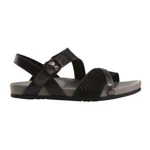 EARTH Linden Laguna Sandal Black Leather