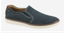 Load image into Gallery viewer, Johnston and Murphy McGuffey Perforated Slip-on Navy Nubuck