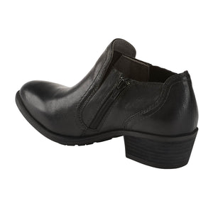 EARTH Peak Peru Ankle Bootie Black Leather