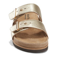 Load image into Gallery viewer, EARTH Canyon Ruby Sandal Gold Leather