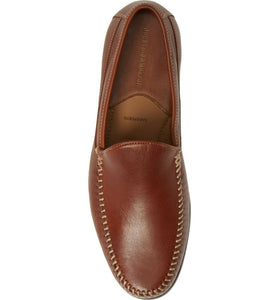 Johnston and Murphy Cresswell Whipstitch Venetian Cognac Full Grain Leather