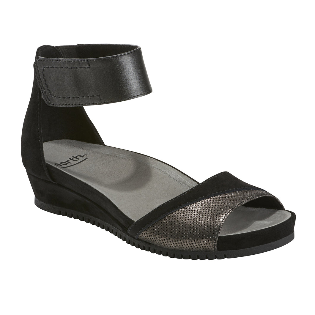 EARTH Ficus Sagittarius Sandal Black Leather