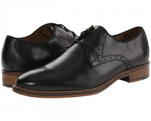 Load image into Gallery viewer, Johnston and Murphy Conard Cap Toe Black Calfskin