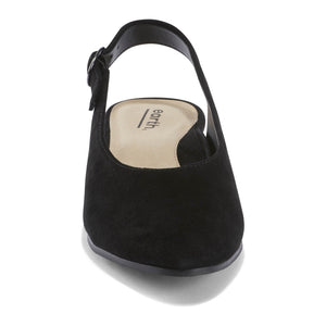 EARTH Uptown Ursula Closed Toe Slingback Black Suede