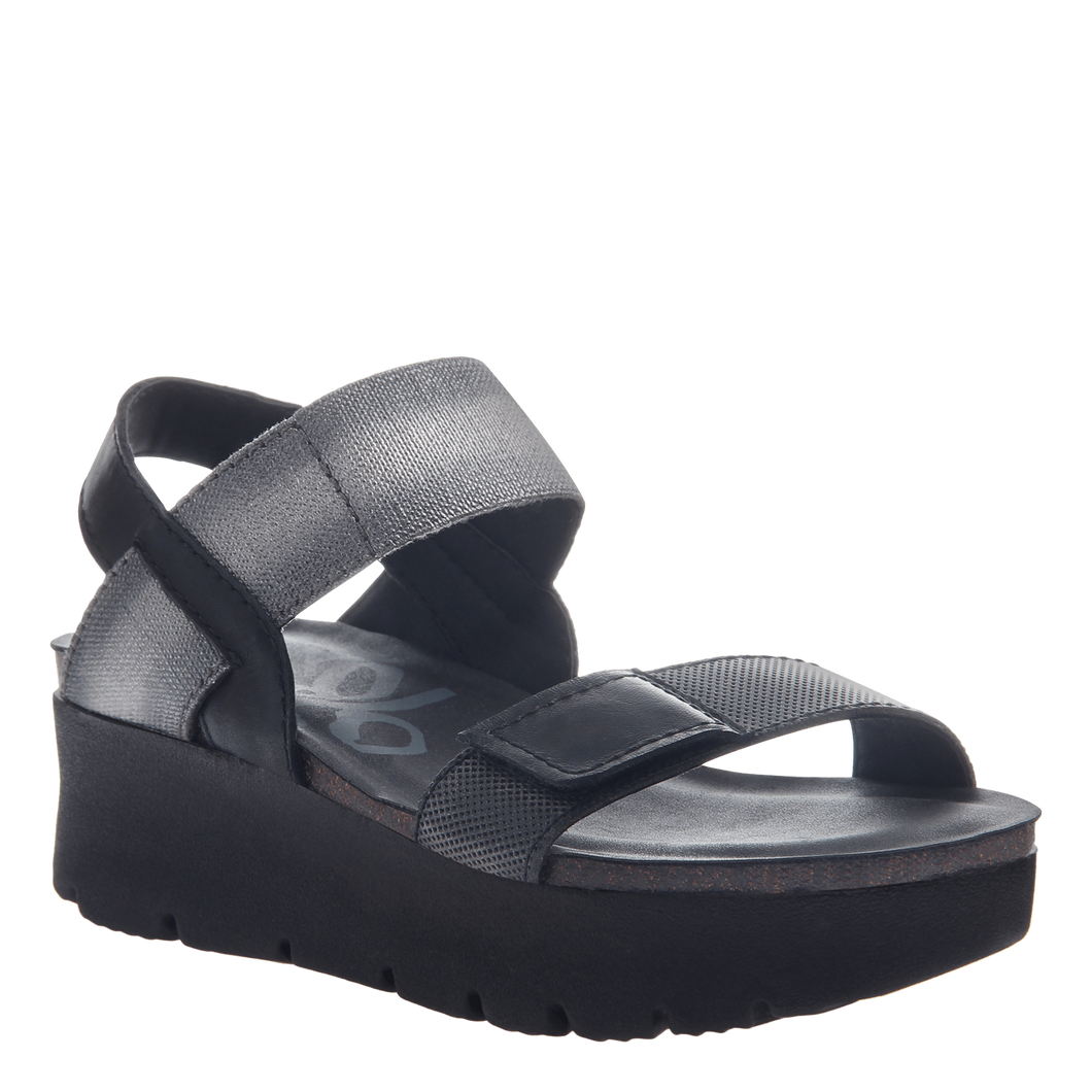 OTBT Nova Wedge Sandal Black