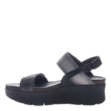 Load image into Gallery viewer, OTBT Nova Wedge Sandal Black