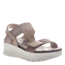 Load image into Gallery viewer, OTBT Nova Wedge Sandal Silver