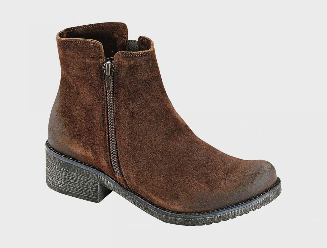 NAOT Wander Ankle Bootie Seal Brown Suede