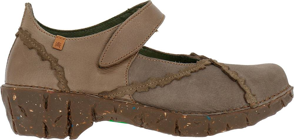 El Naturalista YGG Drasil NG60  Wedge/Mary Jane Leather Plume (Taupe)