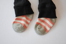 Load image into Gallery viewer, Classic Black Leggings with Red Thick Stripe Socks