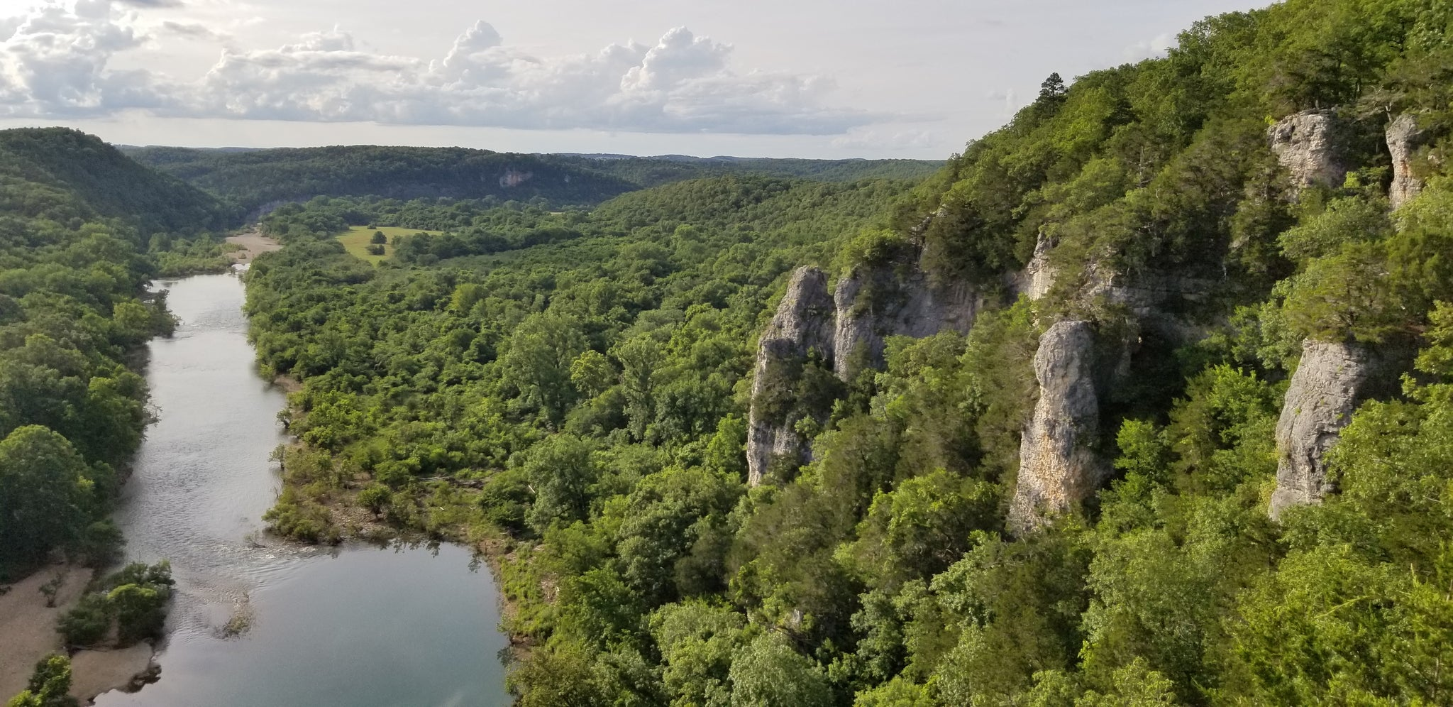 Peter Cave Road Overlook - Buffalo National River - Arkansas High Country Route