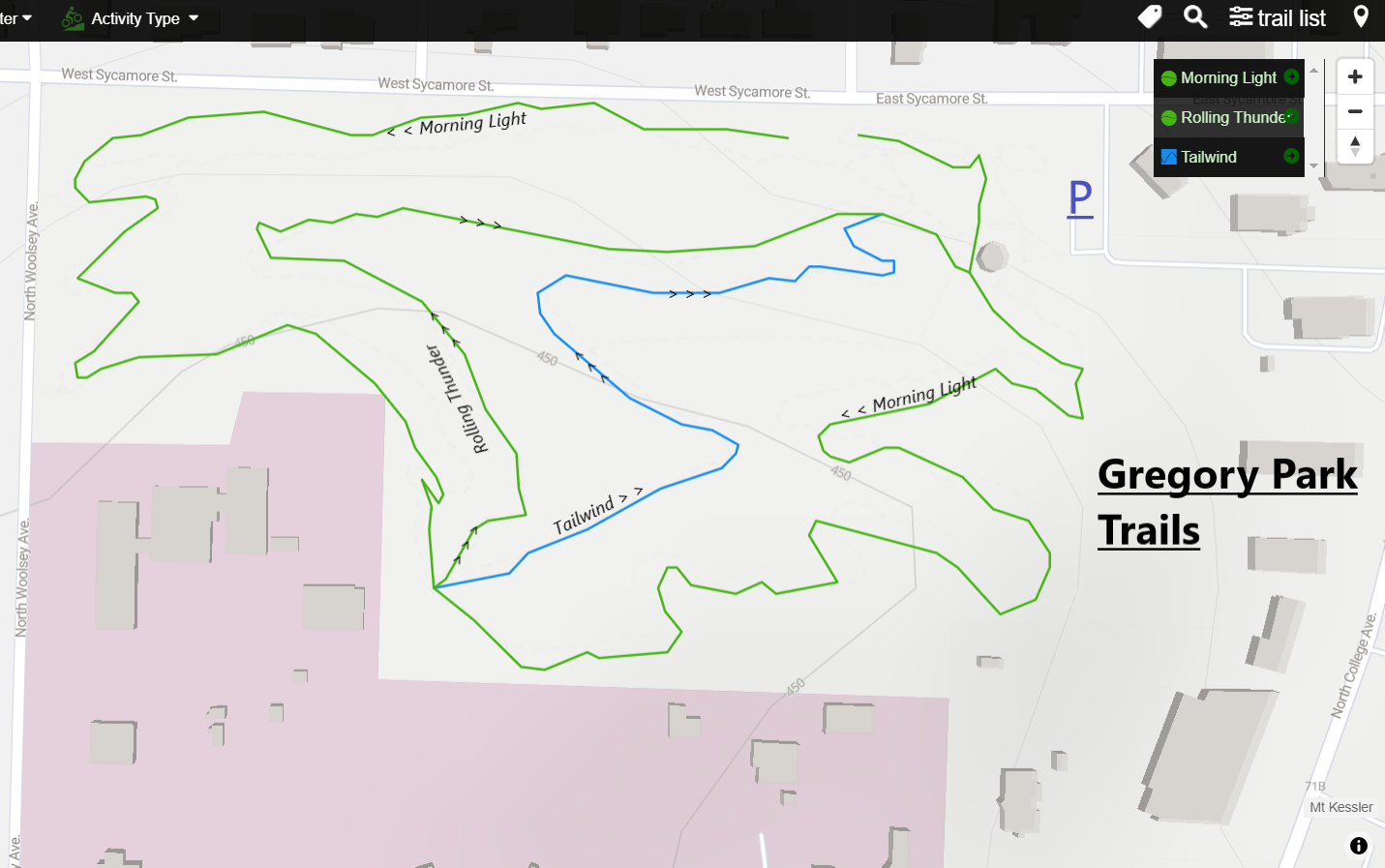 Gregory Park Mountain Bike Trails