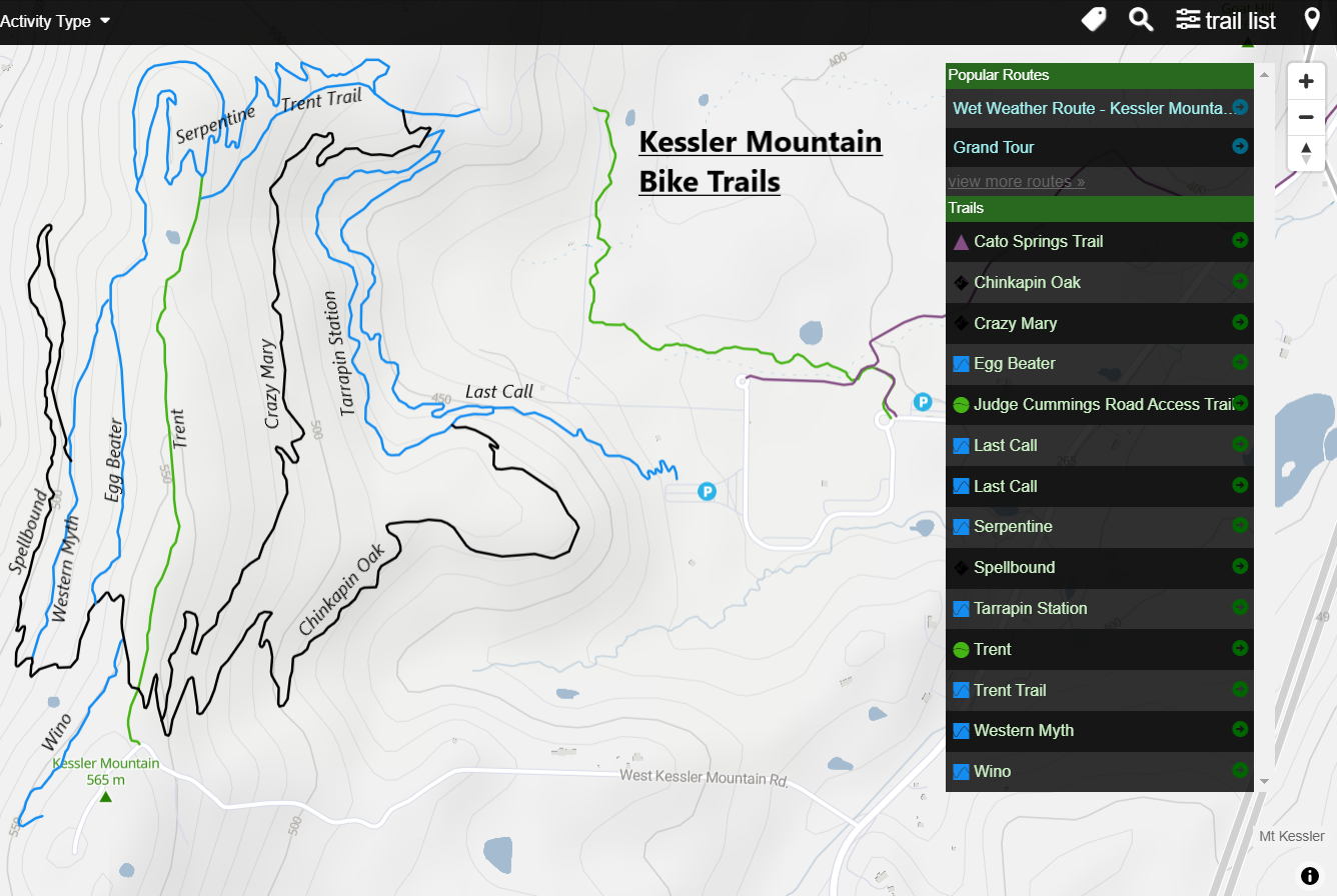 Kessler Mountain bike trails