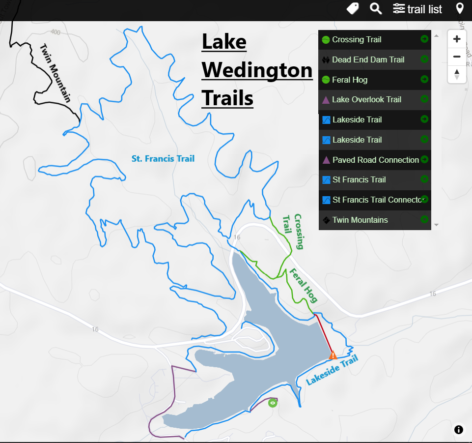Lake Wedington Recreation Area Mountain Bike Trails