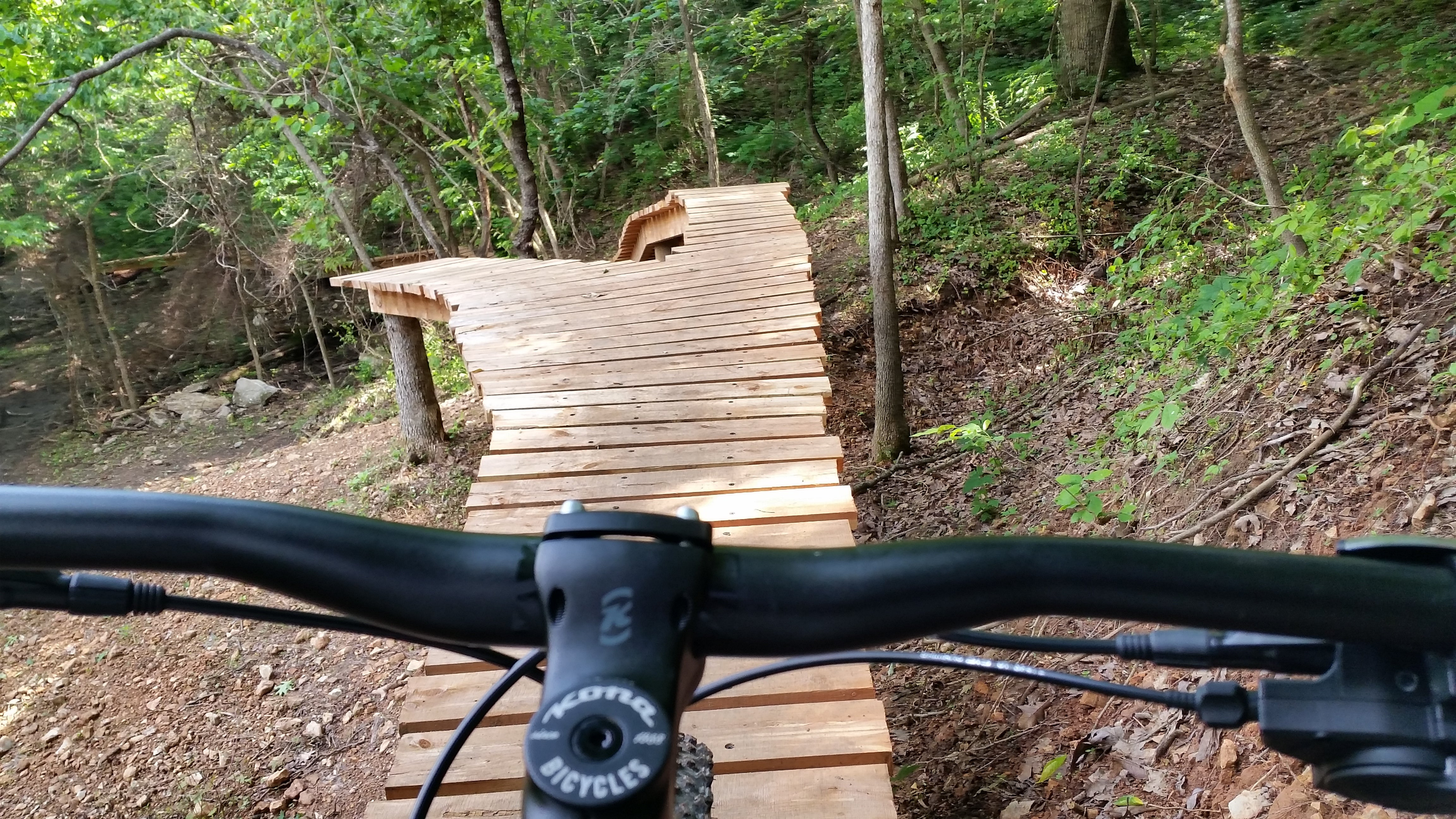 Learn to ride drops and wood features at Slaughter Pen trails