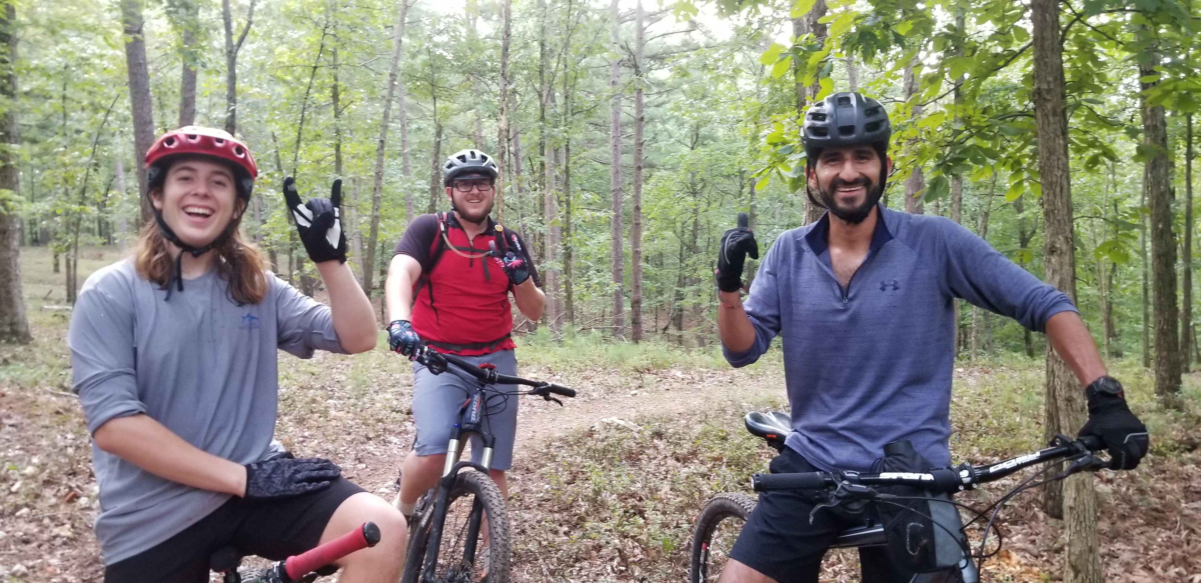 Group mountain bike ride in Bentonville