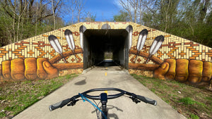 Razorback Greenway Bike Tour street art wall mural