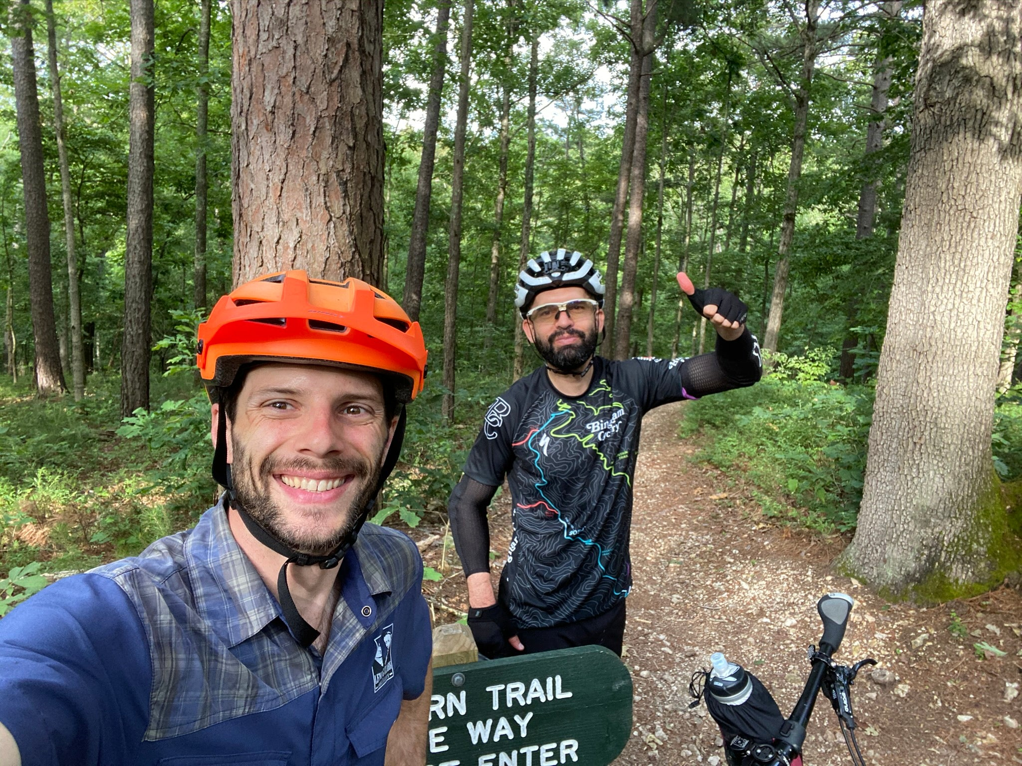 Mountain biking fun at Hobbs State Park Monument Trails downhill only section