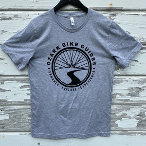 Ozark Bike Guides Logo T-shirt - Grey
