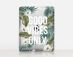 """Good Vibes Only"" feliratú, szilikon iPad tok"