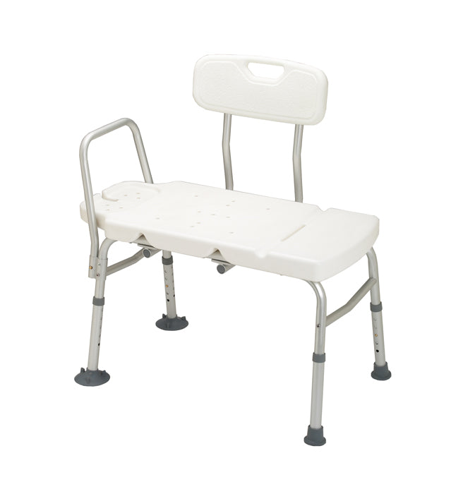 Bath Transfer Bench w/ Arm (Plastic Seat and Backrest)