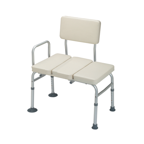 Bath Transfer Bench w/ Arm (Padded Seat and Backrest)