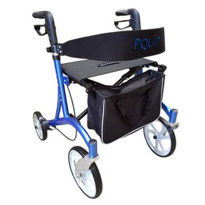 "PQUIP Euro X-Fold Heavy Duty Outdoor Walker 10"" Wheel Walker"