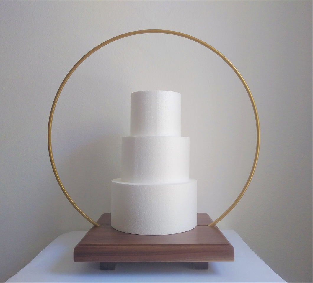 16 inch Cake Hoop Stand base with gap section for Metal Hoop