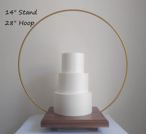14 inch Cake Hoop Stand base with gap section for Metal Hoop