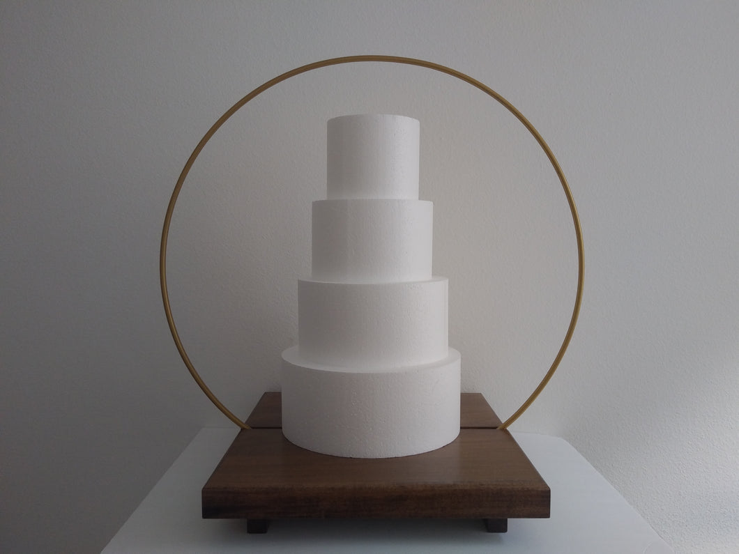 18 inch Plateau Cake Stand with gap section for Metal Hoop