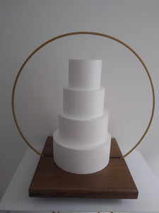 22 inch Cake Hoop Stand with powder coated steel hoop options