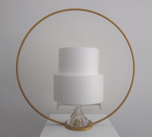 24 inch free standing Metal Cake Round Hoop for floral display, wedding prop or cakes