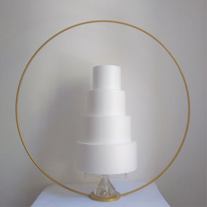 36 inch free standing Metal Cake Round Hoop for floral display, wedding prop or cakes