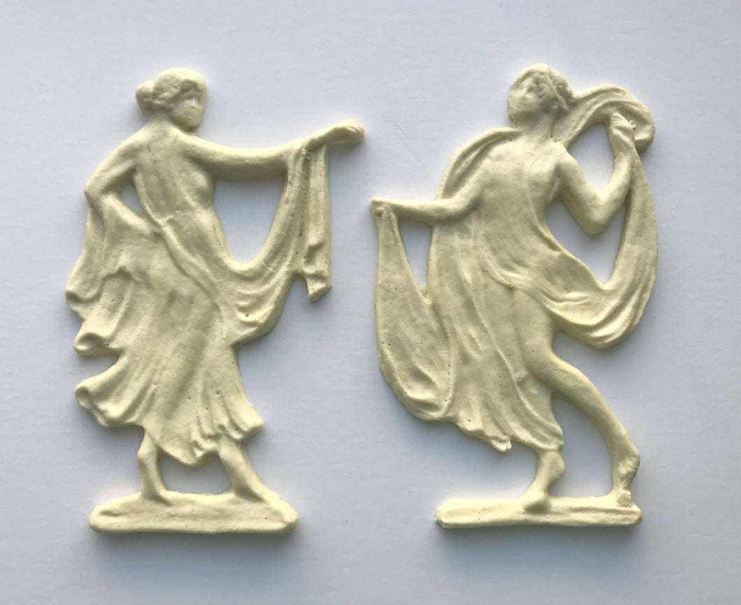 Artemis Grecian Goddess pair silicone mold
