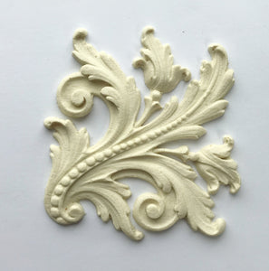 Antoinette Baroque leaf (right side) silicone mold