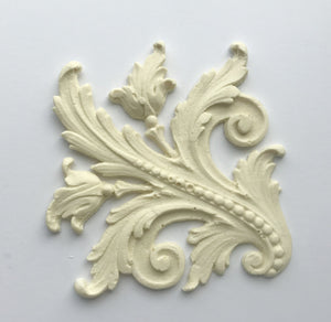 Antoinette baroque leaf (left side) silicone mold